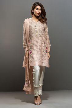 Picture of Cotton net kamdani shirt Pakistani Couture, Pakistani Dress Design, Pakistani Outfits, Indian Outfits, Eid Dresses, Women's Fashion Dresses, Fashion Pants, Casual Dresses, Elegant Dresses