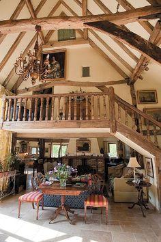Former barn turned into beautiful home. #InteriorDecorInspiration #Barns