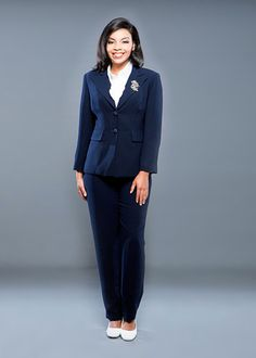 Beautiful  About SexyPowerful Women39s Vintage Navy Blue Wool Tailored Pant Suit