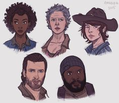 Walking Dead fanart pt. 2 by Amanda-Kihlstrom.deviantart.com on @DeviantArt