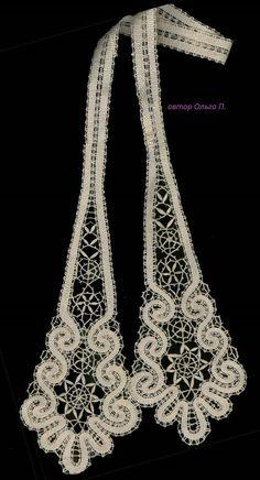 Lace Tie Aurora-2 por MadamKruje en Etsy Lace Jewelry, Unique Jewelry, Indian Flowers, Bobbin Lace Patterns, Lace Bolero, Lacemaking, Lace Heart, Point Lace, Lace Detail