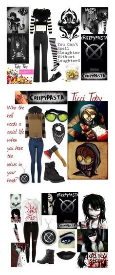 """Creepypasta"" by annabethpercy ❤ liked on Polyvore featuring art and creepypasta"