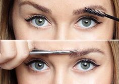 How to trim eye brows