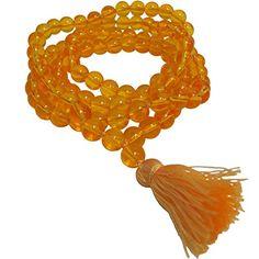 Citrine Crystal Chakra Yoga Meditation Nirvana Prayer Mala Bead Necklace * More info could be found at the image url.