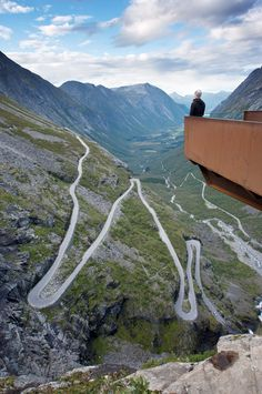 Trollstigen, in English meaning 'Troll's Ladder', is a serpentine mountain road in Rauma, Norway, part of the Norwegian National Road and has an incline of 9%. Photograph by Daito Zen