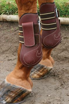 The VenTECH Leather Open Front Jumping Boots. With a breathable VenTECH liner these boots ensure your horse's legs don't overheat!