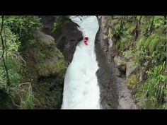 Simply terrifying... dare devils in kayaks.  I could never do this but love watching.