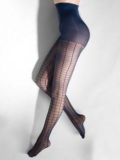 American Apparel Sheer Grid Pantyhose, $25