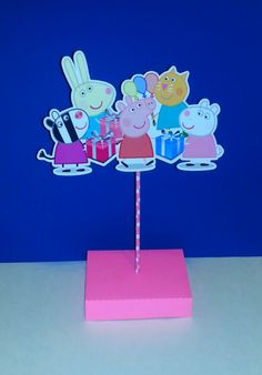 Peppa Pig Centerpiece For Birthday Party Decor by PishPoshPartique