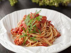 海老出汁トマトソースパスタ