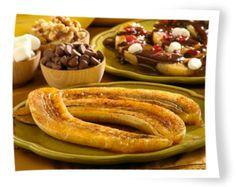 Baked Bananas with Honey and Cinnamon  http://www.stockpilingmoms.com/2011/01/baked-bananas-with-honey-and-cinnamon/