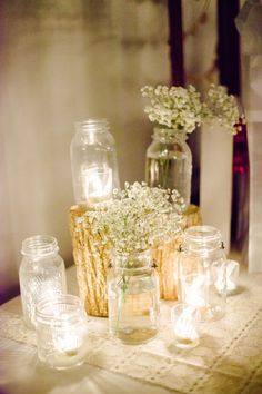 To keep with Mason jar theme. Simple. Could wrap the jar with safari ribbon or your theme colors.