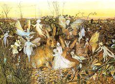 A Rabbit Among The Fairies, John Anster Fitzgerald, 1832-1906