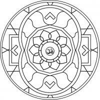 Mandala de la Abundancia. Para imprimir, colorear, pintar, adornar.