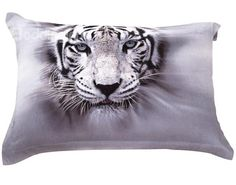 New Arrival 100% Cotton Lifelike White Tiger 3D Printed 4-Piece Bedding Sets/Duvet Cover Sets
