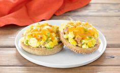 Bagels aux œufs gratinés