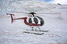 Hughes 500 Helicopter. Fox Glacier. New Zealand