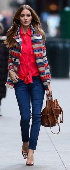 Olivia Palermos Exquisite Style Glamsugar.com Olivia Palermo in Manhattan