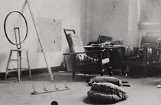 Marcel Duchamp, 1916-17 studio photograph.jpg