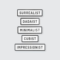 """0.29"""" Height, Various WidthsSoft Enamel Pin Single Posted Rubber Clasp---Represent your favorite art history movement or claim your personality with our Pin Museum Art Tags."""