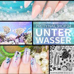 #water   #summer   #nails   #nailart   #color   Nirgends schimmern die Farben im Sommer so schön wie bei einem Tauchgang im Urlaub. Lasst Euch inspirieren und taucht ab in eine schillernde Unterwasserwelt. Eure Martina