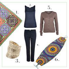 Basic Style with colorful accessories by Brigitte von Boch #bevonboch
