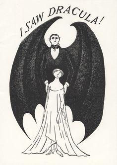 ブラム・ストーカーの『吸血鬼ドラキュラ』のイラスト。