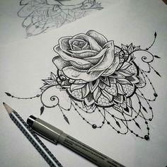 Resultado de imagem para black lace tattoo