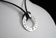 Sterling Silver Washer Charm 1 Hand Stamped by auctionprincess, $45.00