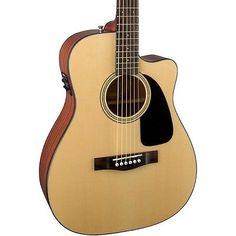Fender CF-60CE Folk Acoustic-Electric Guitar Black - http://musical-instruments.goshoppins.com/guitars/fender-cf-60ce-folk-acoustic-electric-guitar-black/