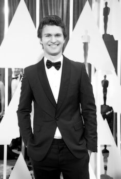 Pin for Later: Stunning Oscars Pictures You Haven't Seen Yet Ansel Elgort