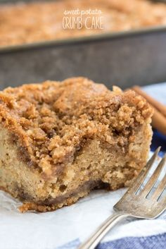 Sweet Potato Crumb Cake - this is the BEST crumb cake recipe I've ever had! It's an easy recipe that you'll want to keep making over and over.