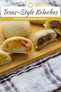 Kolaches are a delicious combination of a sweet dough filled with breakfast foods that seem to be a tradition in Texas. Have you tried one? #kolaches Homemade Breakfast, Breakfast Bake, Savory Kolache Recipe, Brunch Recipes, Breakfast Recipes, Breakfast Ideas, Sweet Dough, Baking Stone, Biscuit Recipe