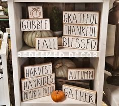 Despair In Youngsters - Realize To Get Rid Of It Wholly Farmhouse Halloween Rae Dunn Inspired Stencil Pack Etsy Fall Crafts, Diy Crafts, Fall Craft Fairs, Fabric Crafts, Homemade Crafts, Creative Crafts, Holiday Crafts, Fall Diy, Wooden Blocks