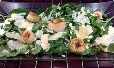 Rose Reisman shares her recipe for kale caesar salad. Kale Caesar Salad, Seared Scallops, Kale Recipes, Potato Salad, Salads, Potatoes, Magazine, Rose, Ethnic Recipes