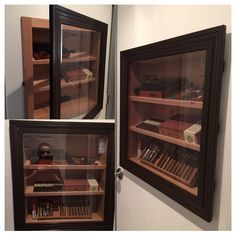 I made my own in wall Cigar Humidor.. By ED