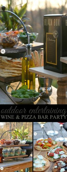 Msg 4 21+ • Outdoor Wine and Pizza Bar Party #blackboxsummer #ad #summer #entertaining #party