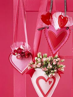 Hanging Valentines (reminds me of May Day, but still cute)