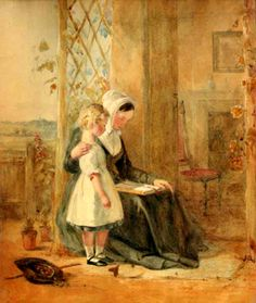 The reading lesson. John Absolon born 1815 in London, United Kingdom died May 5, 1895,