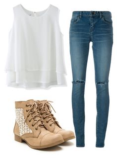 """""""Untitled #312"""" by aaisha123 ❤ liked on Polyvore featuring Chicwish and Yves Saint Laurent"""