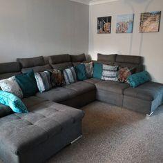 17 Stories Thom Corner Sofa & Reviews | Wayfair.co.uk Corner Sofa Living Room Layout, Living Room Sofa, Home Cinemas, Beautiful Homes, Sofas, Couch, Furniture, Home Decor, House Of Beauty