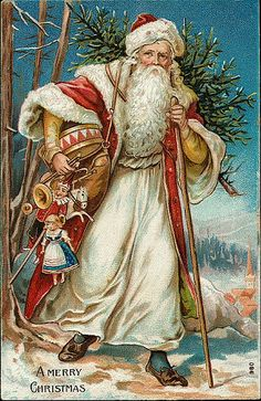 https://flic.kr/p/7iHZzF | Vintage Christmas/Santa Claus Postcard | Free to use in your Art only, not for sale on a Collage Sheet or a CD