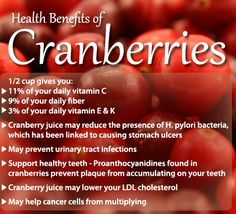 Not many people know though that cranberry juice is not as effective as cranberries themselves...
