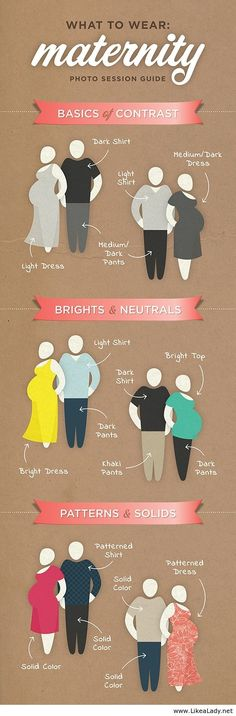 What to Wear to a Maternity Photo Session  maternity infographic  outfit ideas, family photo shoot