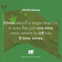 #China has only one time zone. #DidYouKnow #Fact