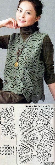 Knitting: sleeveless crochet