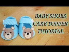 how to make baby cake topper fondant pasta di zucchero torta decorata - YouTube