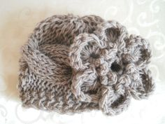 sideways cable knit baby hat