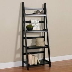 Wall & Display Shelves : Found it at Wayfair – Ladder Shelf – Tepe Time Black Ladder Shelf, Ladder Bookcase, Display Shelves, Shelving, Display Wall, Bathroom Ladder Shelf, Shelf Wall, Standing Shelves, Cool Walls