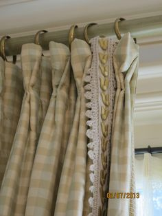 Custom Trim on Simple Silk Taffeta Check www.lindafloyd.com